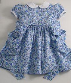 Liberty Blue D'Anjo Dress - Patricia Smith Designs