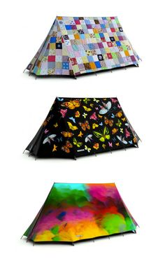 On the FieldCandy website, a counter next to each design indicates how many of that design are still left. Each tent comes with a label that shows the edition number and the design name. Prices range from $430 for the black FieldCandy signature tent to over $1,000. FieldCandy ships around the world The tents are available exclusively through the website. - Tuija Seipell