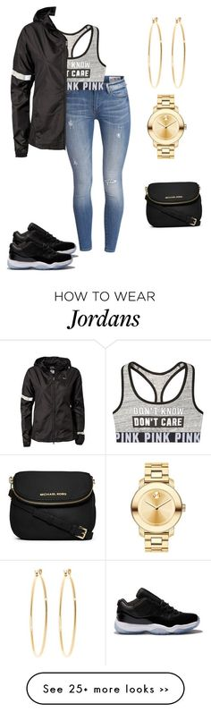 """"" by hayiamas on Polyvore featuring NIKE, MICHAEL Michael Kors, Movado and Brooks Brothers"