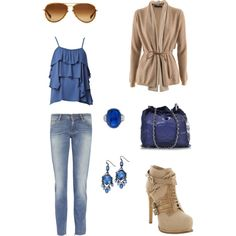 Love the tan/blue combo