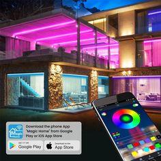 Rgb Led Strip Lights, Led Light Strips, Bar Lighting, Strip Lighting, Presents For Your Boyfriend, Bar Displays, App Remote, Light Building, Light Music