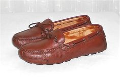 Minnetonka Men's Genuine Deerskin Brown Driving Moccasin Slip On Shoe Size 9 #MinnetonkaMoccasin #DrivingMocMoccasin