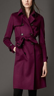 Love these colored trench coats from Burberry | Iconic British Luxury Brand Est. 1856