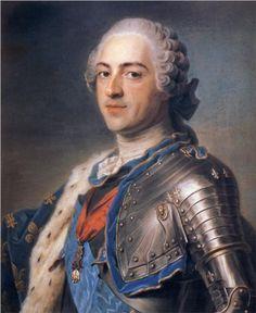 """""""Portrait of King Louis XV""""  - Maurice Quentin de La Tour (1748, France), Musee du Louvre, Paris"""