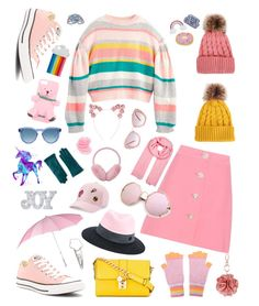 """""""Pinky Pie🌈"""" by camillebctn on Polyvore featuring Miu Miu, Converse, Dolce&Gabbana, Maison Michel, Miss Selfridge, Moschino, STELLA McCARTNEY, Denis Colomb, SO and Eye Candy"""