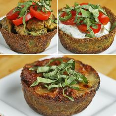 Low-Carb Broccoli Parmesan Cups by Tasty