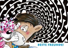 Beste Freunde! | Diddl | Echte Postkarten online versenden | Diddl