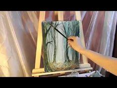 🎨 Как нарисовать подснежники маслом / How to draw snowdrops oil