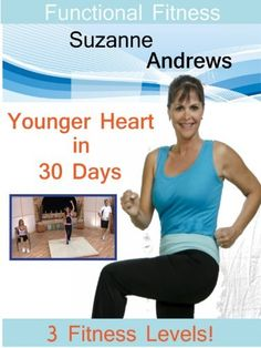 Functional Fitness with Suzanne Andrews Younger Heart in 30 Days: Workout Dvds, Workout Videos, Amazon Instant Video, Tv Reviews, Workout For Beginners, Live Long, 30 Day, 30th, Exercise
