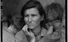 "Nipomo, California, 1936, the famous ""Migrant Mother"". Photo: Dorothea Lange"