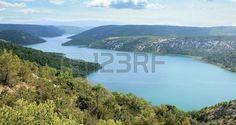 Visovac lake, national park Krka, Croatia