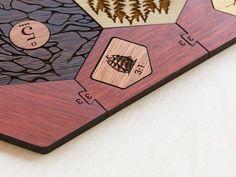 Settlers of Catan Board  Hardwood Edition  5-6 Player