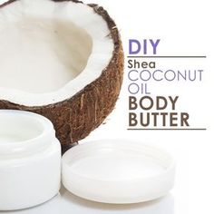 DIY Shea Coconut Oil Body Butter requires only 3 ingredients that will keep your skin smooth and silky.  #DIY #sheabutter #coconutoil