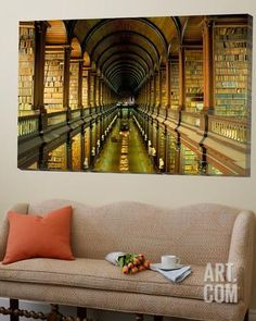Gallery of the Old Library, Trinity College, Dublin, County Dublin, Eire (Ireland) Loft Art by Bruno Barbier at Art.com
