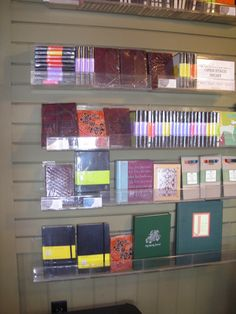 Trim slatwall to make it look look like it belongs. Use acrylic accessories so your product is what they see. Gift Shop Displays, Slat Wall, Bookstores, How To Apply, How To Make, Book Lovers, Fit, Accessories, Ideas