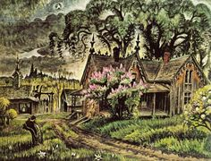 Philip Koch Paintings: Is Charles Burchfield Really Caspar David . American Scene Painting, Caspar David, Paint Fight, New Britain, Vintage Gothic, Nature Scenes, American Artists, Art And Architecture, Art History