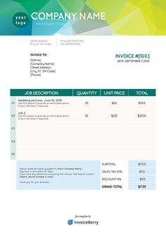 How To Make A Invoice Use Invoice Templates For Your New Dog Care Business #dogcare .