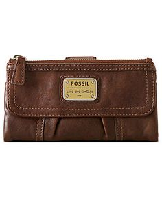 Fossil Wallet, Emory Leather Clutch - Fossil Women's Accessories - Handbags & Accessories - Macy's