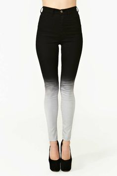 Fade Out Skinny Jeans, like how they're high wasted. so cute