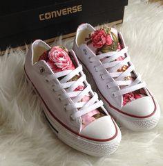 Weekend SALECustom Made Floral Converse shoes