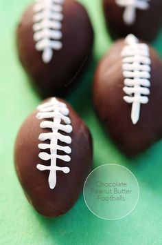 Fun for tailgating! (And easy too!) Chocolate Peanut Butter Footballs Recipe