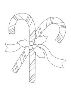 Free Candy Cane Coloring Page for Kids. Pinned by Generation iKid.