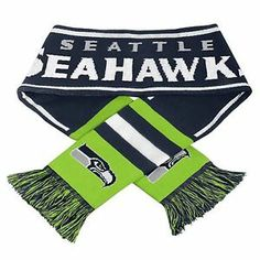 Seattle Seahawks Scarf Knit Winter Neck NEW NFL - Wordmark Team Logo - 2013