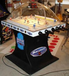 2000 Bud Light Great One Edition Super Chexx Hockey Sticks, Games Images, Bud Light, Arcade Games, Man Cave, The Originals, Toys, Table, Ideas