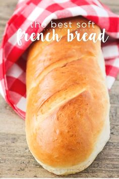 The Best Soft French Bread This soft and fluffy french bread is better than store-bought and so easy to make! - This soft and fluffy french bread is better than store-bought and so easy to make! Artisan Bread Recipes, Easy Bread Recipes, Cooking Recipes, French Bread Recipes, Cooking Tips, Best French Bread Recipe Ever, Bread Flour Recipes, Bread Machine Recipes Healthy, Easy French Recipes