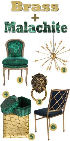 A few must haves to pull off the Brass + Malachite trend