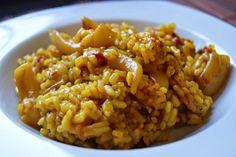 RECETAS POR PUNTOS   Ingredientes: para 4 personas   300 grs. de arroz (30 PUNTOS)  1 kg. de sepia (20 PUNTOS)  2 cebollas (0 PUNTOS)  2...