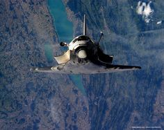 Shuttle Discovery over Switzerland