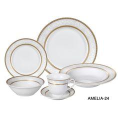 24-Piece Amelia Porcelain Dinnerware Set
