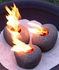 Fire pots - The clean burning gel fuel means they can be used safely indoors or outside.
