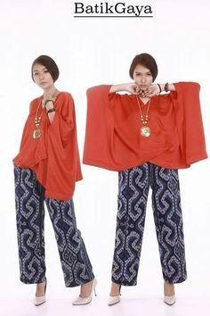 Htgh Batik Fashion, Ethnic Fashion, Hijab Fashion, Diy Fashion, African Fashion, Womens Fashion, Fashion Design, Kulot Batik, Batik Kebaya