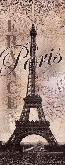 Eiffel Tower Global Vintage Travel Art Print Poster by Todd Williams, 8 x 20 Vintage Paris, Vintage Travel, Vintage Cafe, Beautiful Paris, Paris Love, Montmartre Paris, Paris Paris, Paris Decor, Paris Theme