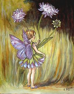Fairy Painting by Burnes