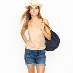 Silk cami - sleeveless - Women's shirts & tops - J.Crew