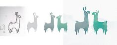 Illustrations / logo work for The StillPointe Llama Sanctuary  See it BIG  Sketch --> Draw --> Add Color --> Add Life Partner --> Texture  Oh... and listen to this on loop: www.albinoblacksheep.com/flash/llama
