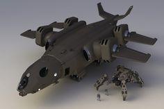 Thunderhawk+Heavy+Dropship+FL+I+by+Quesocito.deviantart.com+on+@deviantART