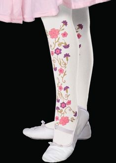Child Flower Tights formal dance model clown girl costume ballet Rubies pageant  #Rubies #Tights
