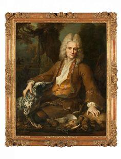 Octave-Alexandre de Nédonchel en chasseur  Jean-Baptiste Oudry (1686-1755)  Paris, daté 1713  Cadre vers 1713 Huile sur toile, cadre en chêne sculpté et doré