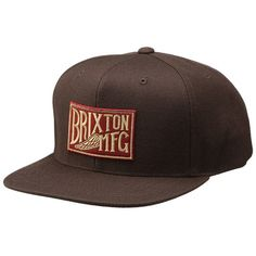 Brixton Coventry Snapback Hat (Brown)  27.95 bf2fa9dfc77
