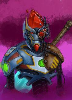 Wildstar fan art - Mechari Warrior by drmorg.deviantart.com on @deviantART