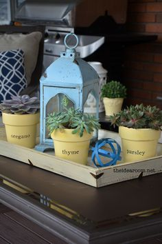 succulent-planters home decor | theidearoom.net #LowesCreator