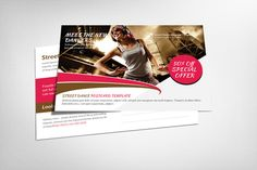 Street Dance Postcard Template by Business Templates on Creative Market
