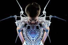 Smart Spider Dress, powered by Intel Edison, blends fashion with robotics and wearable technology to express the wearer's emotions and ... Continued