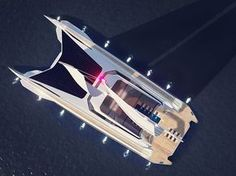 Catamaran Concept Yacht by Rene Gabrielli