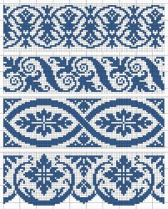 Wedding Cross Stitch Patterns, Cross Stitch Borders, Modern Cross Stitch Patterns, Cross Stitch Designs, Cross Stitching, Fair Isle Knitting Patterns, Knitting Charts, Weaving Patterns, Knitting Stitches