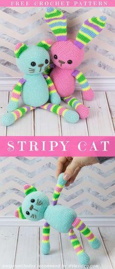 Stripy Amigurumi Cats Free Crochet Pattern Crochet → amigurumi   Written   US Terms Level: upper beginner Author amigurumi.today #freecrochetpattern #amigurumicat